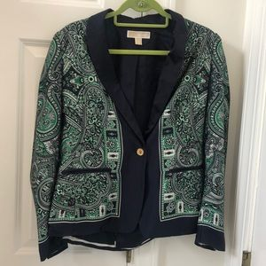 MICHAEL by Michael Kors blue and green blazer